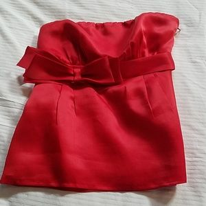 Red Valentino strapless top with bow